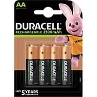 Duracell Battery 4xAA 2400mAh AA 4 Pieces