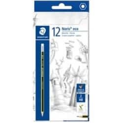 Staedtler Noris Eco HB Eraser Tip Pencil - Pack 12