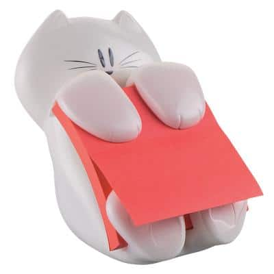 Post-it Z-Notes Cat Dispenser with Super Sticky Z-Notes Poppy 90 Sheets