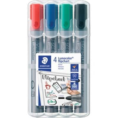 STAEDTLER Flipchart Marker 356WP4 Bullet 2 mm Assorted 4 Pieces