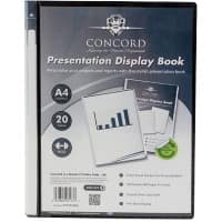 Pukka Pad Concord Presentation Display Book A4 Black 20 Pockets