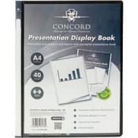 Pukka Pad Concord Presentation Display Book A4 Black 40 Pockets