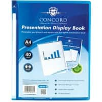 Pukka Pad Display Book A4 Blue Polypropylene