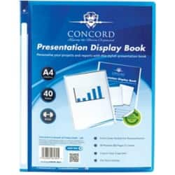 Pukka Filing Presentation Display Book 40 Pocket A4 Blue