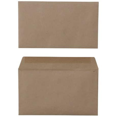 Office Depot Envelopes 75gsm Brown plain gummed 1000 pieces