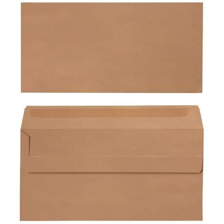 Office Depot Envelopes dl 90gsm Brown plain self seal 500 pieces