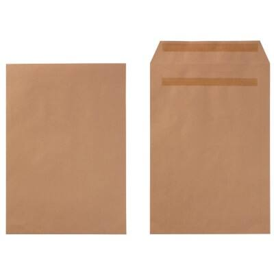 Office Depot Envelopes C4 90gsm Brown Plain Self Seal 250 Pieces