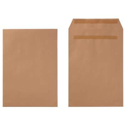 Office Depot C4 Envelopes 229 x 324mm Self Seal Plain 90gsm Brown Pack of 250