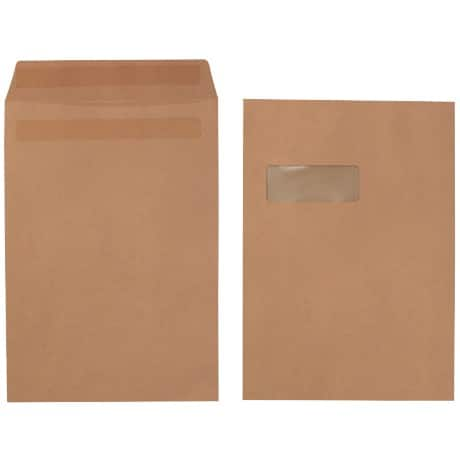 Office Depot Envelopes c4 90gsm Brown window self seal 250 pieces