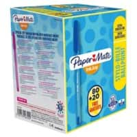 Paper Mate Ballpoint Pen Inkjoy 100 CAP 1 mm Blue 100 Pieces