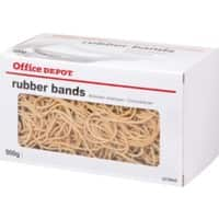 Office Depot Rubber Bands 1.5 x 120mm Ø 120mm Natural 500g