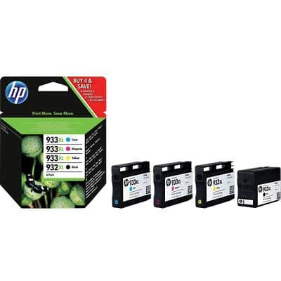 HP 932XL / 933XL Original Ink Cartridge C2P42AE Black & 3 Colours Pack of 4