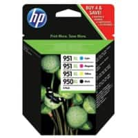 HP 950XL/951XL Original Ink Cartridge C2P43AE Black & 3 Colours 4 Pieces