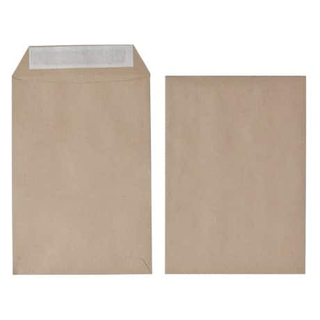 Office Depot Envelopes c5 115gsm Brown plain peel and seal 500 pieces