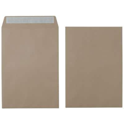 Office Depot Envelopes C4 115gsm Brown Plain Peel and Seal 250 Pieces