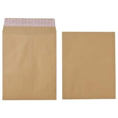 Office Depot Expandable Pocket Envelopes 115gsm Brown Plain Peel and Seal 125 Pieces