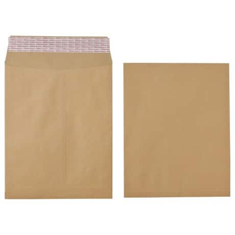 Office Depot Envelopes 115gsm Brown plain peel and seal 125 pieces