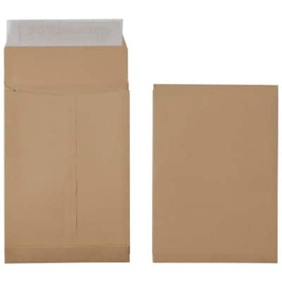 Office Depot Gusset Envelopes C5 140gsm Brown Plain Peel and Seal 125 Pieces