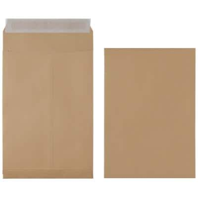 Office Depot C4 Gusset Envelopes 229 x 324 mm Peel and Seal Plain 130gsm Brown 125 Pieces