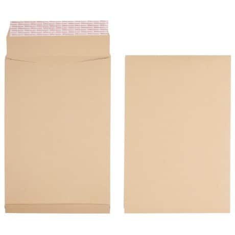 Office Depot Envelopes 140gsm Brown plain peel and seal 125 pieces