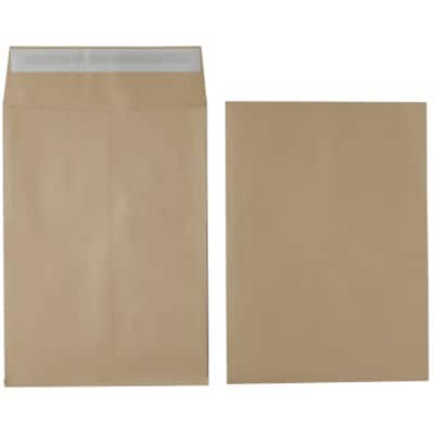 Office Depot Envelopes Non standard 140gsm Brown Plain Peel and Seal 125 Pieces
