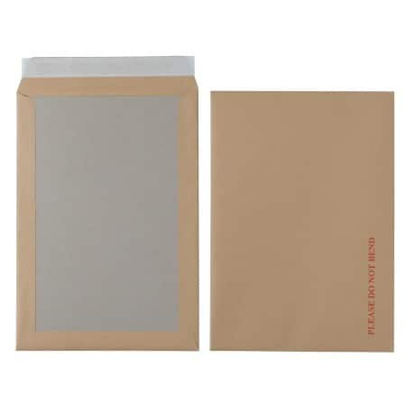 Office Depot Board-Backed Envelopes c4 115gsm Brown plain peel and seal 125 pieces