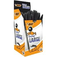 BIC Cristal Large Ballpoint Pen Broad 0.6 mm Black Pack of 50