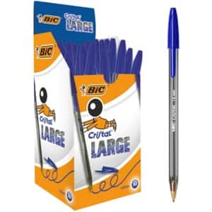 BIC Cic Stic Ballpoint Pens, Medium Point, Blue, 12 Count