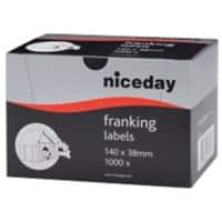 Niceday Franking Labels White 1000 labels per pack