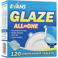 Evans Vanodine Glaze All in One Dishwasher Tablets 120 Pieces