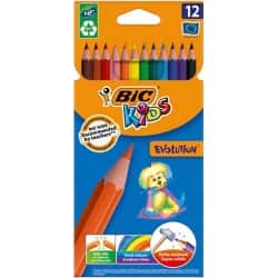Bic Kids Evolution Resin Colouring Pencils - Assorted - Pack of 12