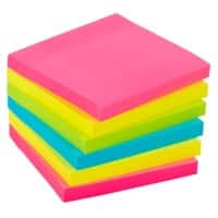 Office Depot Sticky Notes 76 x 76 mm Assorted 6 Pieces of 90 Sheets