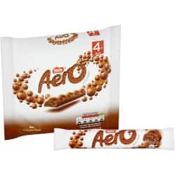 Nestlé Chocolate Aero Bubbly Bar Multipack 4 pieces