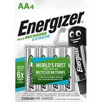 Energizer AA Rechargeable Batteries Extreme Pack of  4