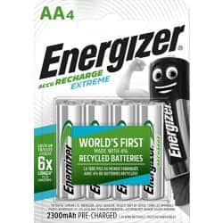 Energizer Batteries Recharge Extreme AA 4 Pieces