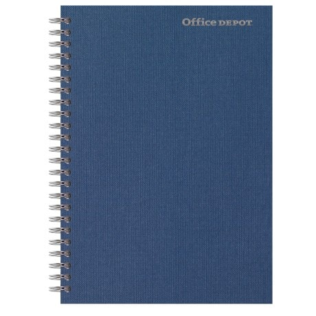 Office Depot Wirebound Notebook Navy Blue Ruled micro perforated A5