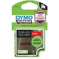 DYMO D1 Durable Labelling Tape 1978366 White on Red 12 mm x 3 m