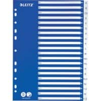 Leitz Indices A4 Blue, White 20 Part Perforated PP A - Z 1