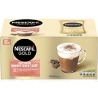 NESCAFÉ Gold Cappuccino Unsweetened Taste Instant Ground Coffee Sachets Unsweetened 14.2g 50 Pieces