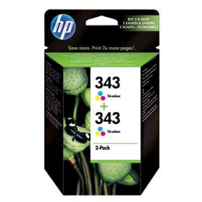 HP 343 Original Ink Cartridge CB332EE 3 Colours 2 Pieces