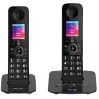 BT Telephone Premium Twin Black