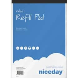 Niceday Refill Pads White Ruled perforated A4+ 29.5 x 21 cm 5 pieces of 80 sheets