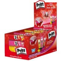 Pritt Glitter Glue Sticks Coloured Red, Yellow, Pink 24 Pieces of 20 g