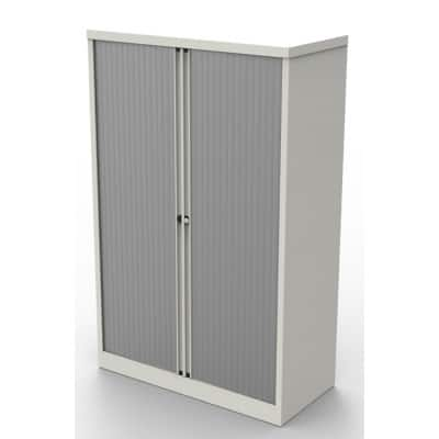 Bisley Tambour Cupboard Essentials White 1,585 x 1,000 x 470 mm