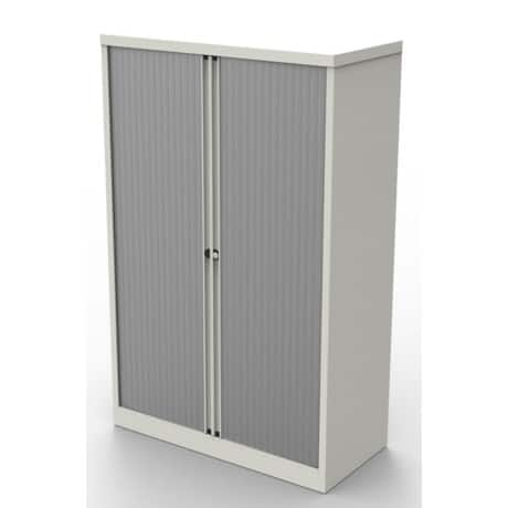 Bisley steel Tambour Cupboard 3 1585 mm White