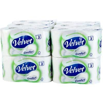 Velvet Toilet Rolls Comfort 2 Ply 24 Rolls of 210 Sheets