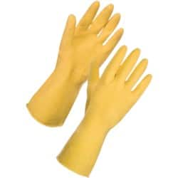 Supertouch Gloves rubber size m Yellow 12 pieces