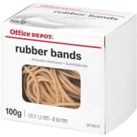 Office Depot Rubber Bands 1.5 x 120mm Ø 80mm Natural 100g