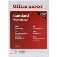 Office Depot Flipchart Pad A1 70gsm Plain 5 Pieces of 40 Sheets
