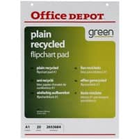 Office Depot Flipchart Pad A1 70gsm Plain 5 Pieces of 20 Sheets